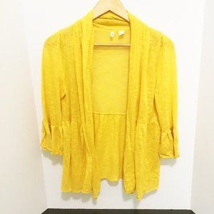 Anthropologie Moth Yellow Cardigan Small EUC